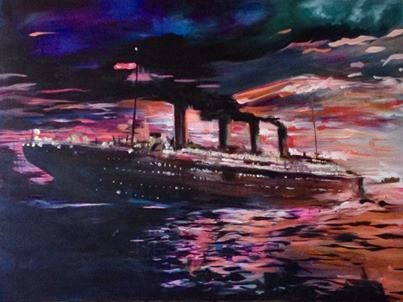 Titanic Painting